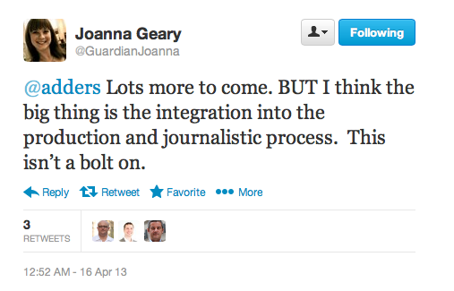 Joanna Geary Guardian Witness