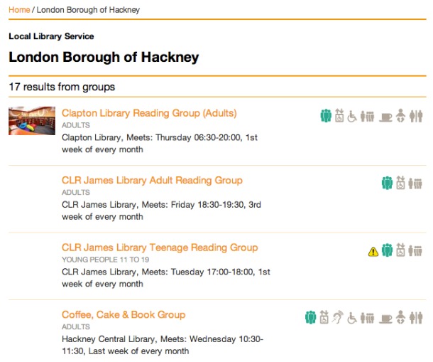 Reading groups in Hackney